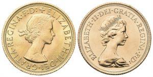 Monete in oro da Investimento - Gran Bretagna - Sterlina Inglese - Regina Elisabetta