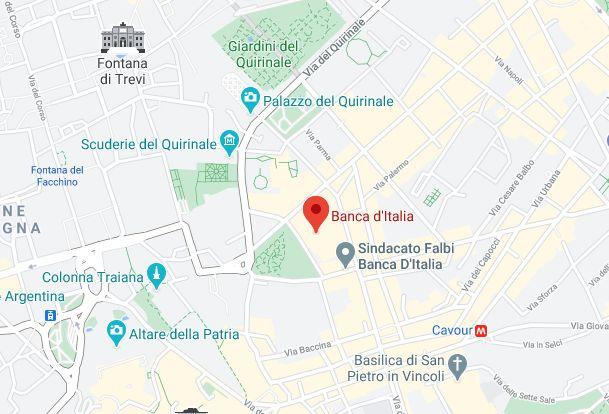 Mappa Sede Banca Italia